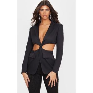 NWT Pretty Little Thing Cutout Suit Blazer Jacket